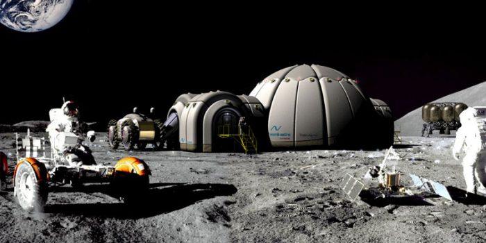 База на спутнике Земли