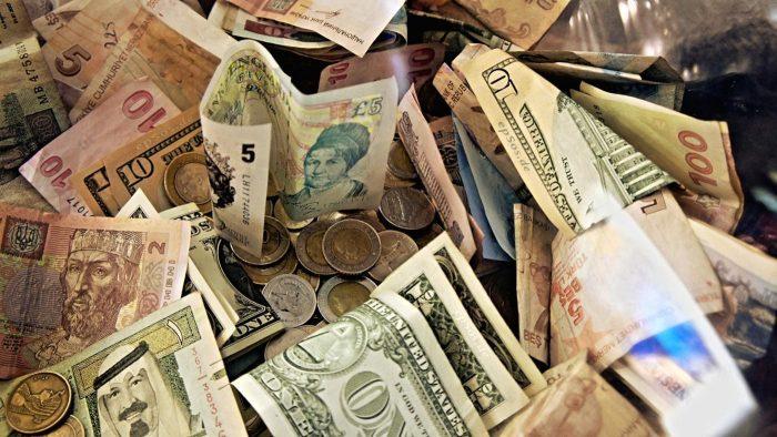 Изображение различных денежных знаков
