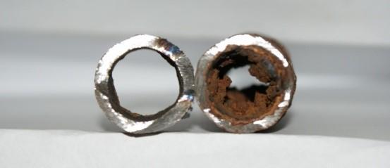 До и после гидропневматической очистки