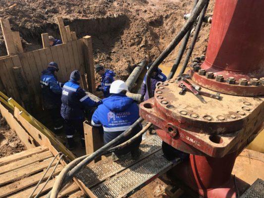 Ход работ по врезке в газопроводную магистраль
