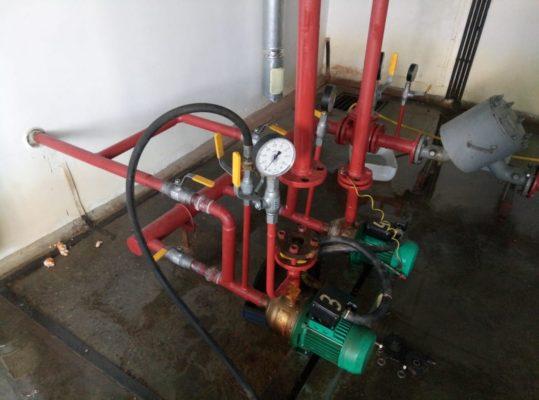 Насосное оборудование до начала работ на объекте заказчика.