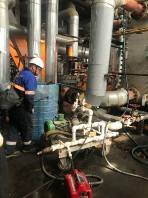 Специалисты компании АСГАРД в ходе подготовительных работ на объекте заказчика