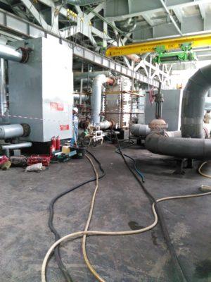 Всё готов для начала очистки теплообменного оборудования заказчика