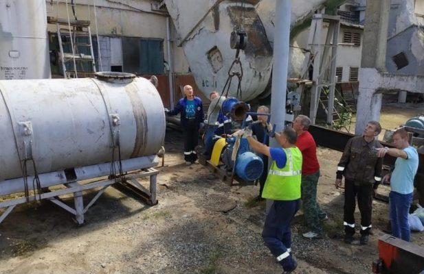 Оборудование и материалы были успешно разгружены и размещены на площадке заказчика