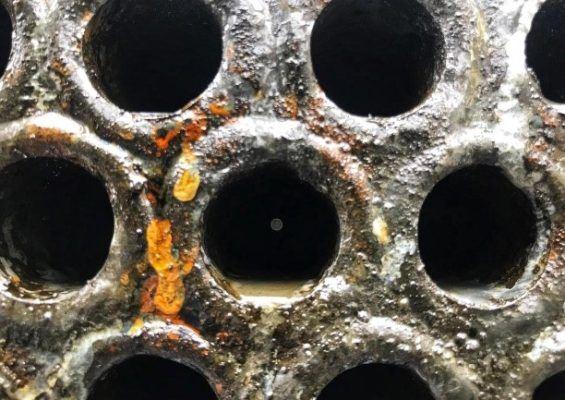 Результат работы по промывке теплообменного аппарата т-2